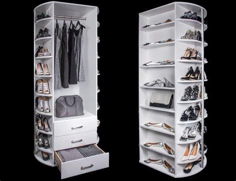 Rotating Closet System by 360 Organizer Spinning Closet Organizer For Shoe Closets