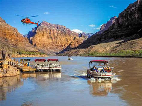 colorado river boat tour grand canyon west rim bus heli boat from vegas