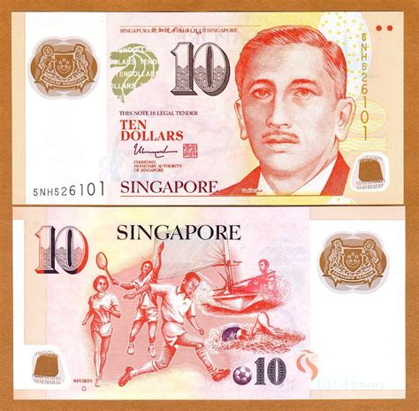 new year notes singapore singapore 10 dollars nd 2015 polymer p 48 new unc