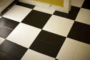 diy black white checkered floor design trend report