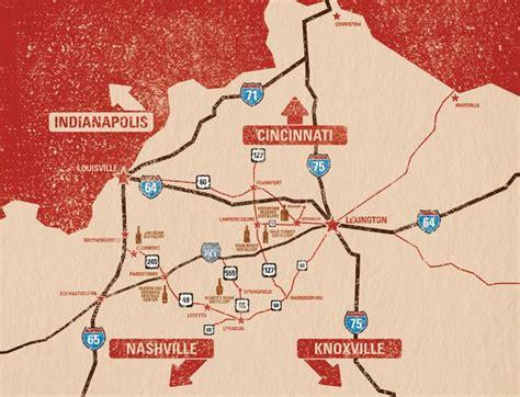 map kentucky bourbon trail kentucky bourbon trail my kentucky home