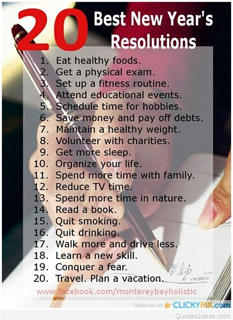 new year resolutions list ideas new year resolutions