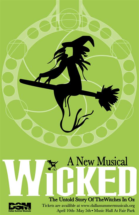 printable wicked poster wicked play poster posters pinterest wicked idina