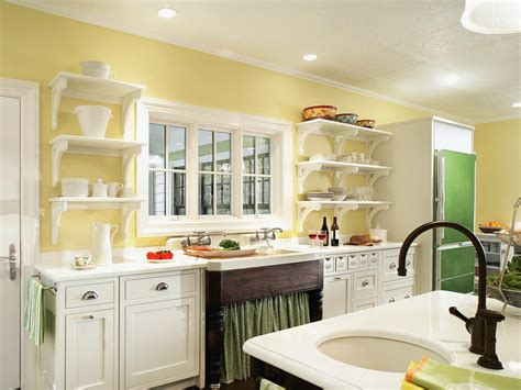 Yellow Kitchen With White Cabinets How To Decorate Kitchen Walls Pictures Ideas From Hgtv Kitchen Ideas Design With Cabinets