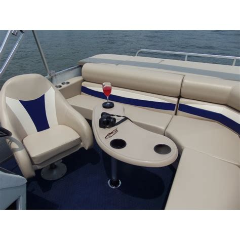 pontoon boat table kidney shape pontoon boat table