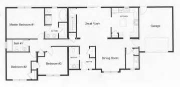 Ranch Style Open Floor Plans by Gallery For Gt Ranch Style House Floor Plans