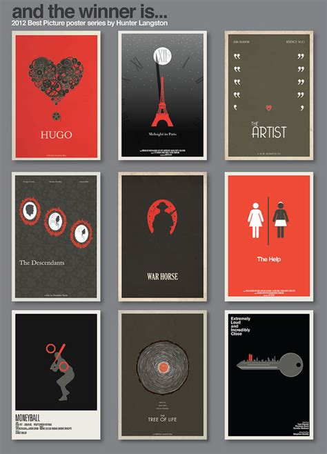 design poster series 2012 best picture poster series by hunter langston