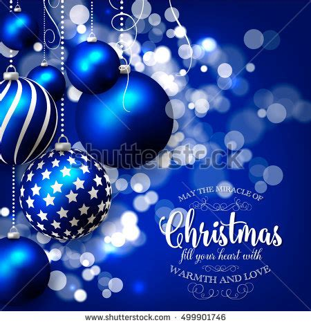 beautiful blue silver christmas background vector stock vector  shutterstock