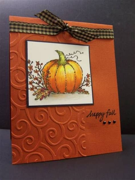 fall cards to make 17 best images about cards fall pumpkins on