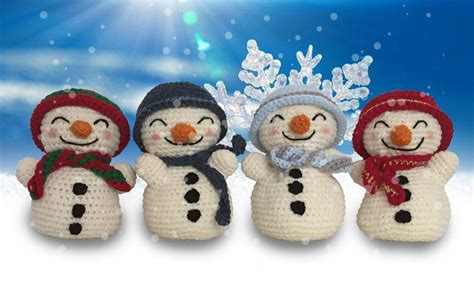 patterns christmas snowman christmas in july 9 free fun christmas decor crochet