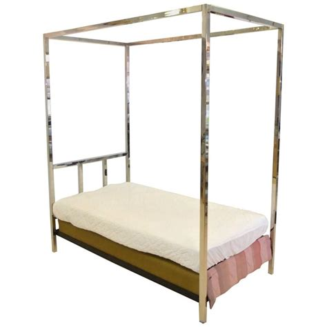 Single Four Poster Bed Frame Pace Collection Chrome Four Poster Canopy Single Bed For Sale At 1stdibs