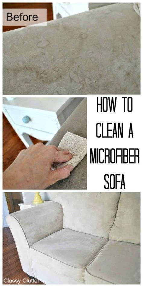 how to clean microfiber sofa at home how to clean a microfiber sofa keep it clean pinterest