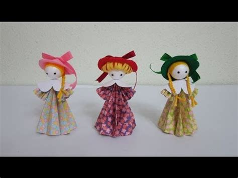 How To Make Doll With Paper - tutorial 3d paper dolls flower fairies