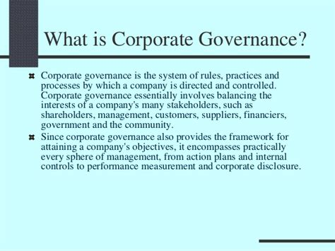 Corporate Governance Mba Notes Pdf by Corporate Governance And In Strategic Management