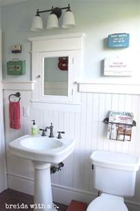 farmhouse bathroom love the magazine holder bathrooms pinterest first aid first aid kits and aid kit