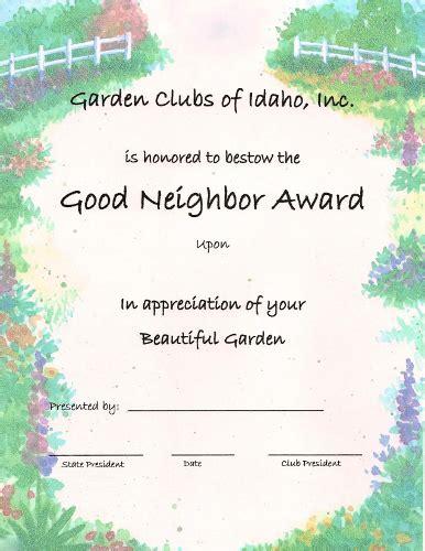 garden clubs of idaho