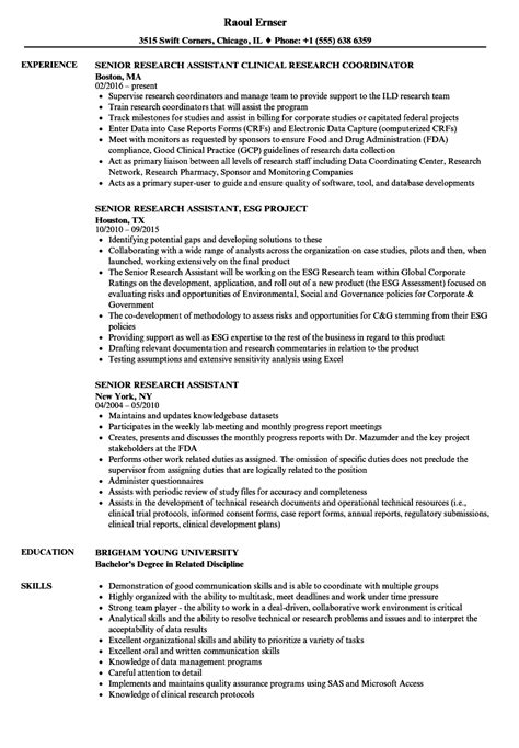 career objective for research associate fantastic resume research assistant photos exle
