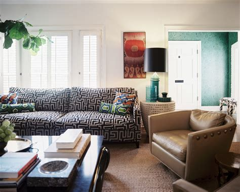 Patterned Chairs Living Room Design Ideas Bohemian Living Room Photos 97 Of 144 Lonny