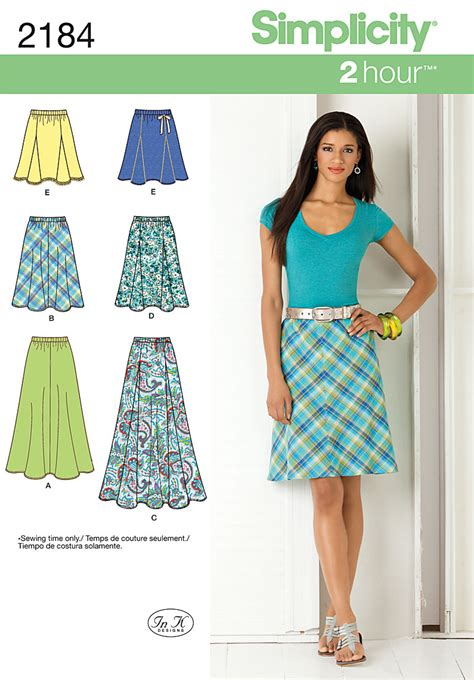 skirt pattern simplicity 2184 misses skirts