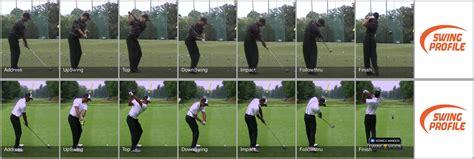 golf swing tiger woods tiger woods swing comparison analysis swing profile