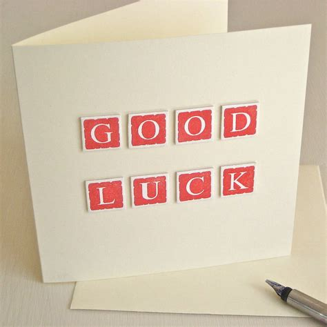 Handmade Luck Cards - handmade luck card by chapel cards