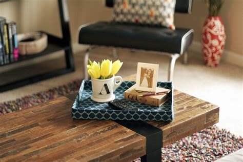 coffee table tray ideas diy cardboard tray all put together