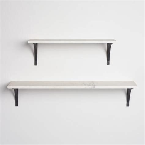 Black Marble Shelf by Marble Mix Match Wall Shelf Collection World Market
