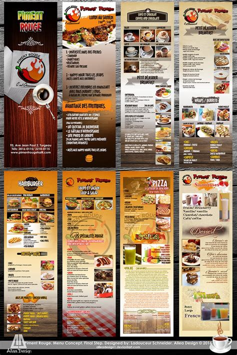 menu template allea design psd free download by