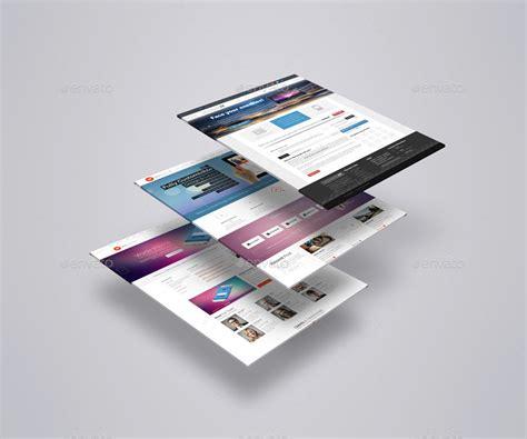 mockup design html perspective website psd mockup templates designazure com