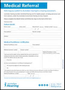 doctor referral form template referral form australian hearing