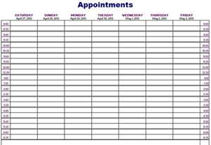 excel weekly appointment calendar template weekly appointment calendar template great printable