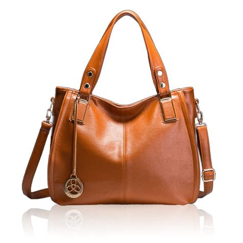 Tegel Tote Bag By Toton k 246 p kvinnors pu l 228 der casual toton shoulder