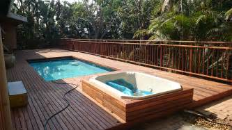 Backyard Pool Financing Swimming Pool Deck Design Idea For Personal And Size