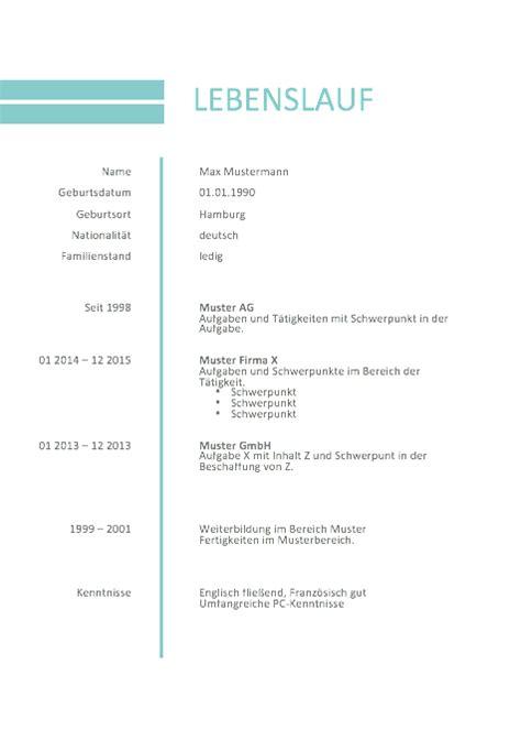 Lebenslauf Muster Minijob Bewerbung Muster Lebenslauf 2016 Muster Und Vorlagen Cv And Media Design