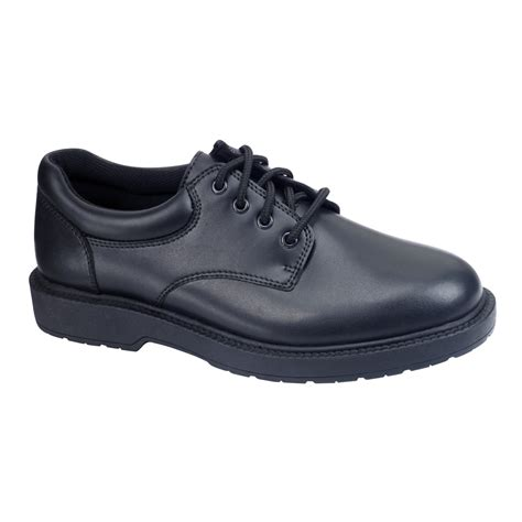 safetrax s kato2 non skid black leather work shoe