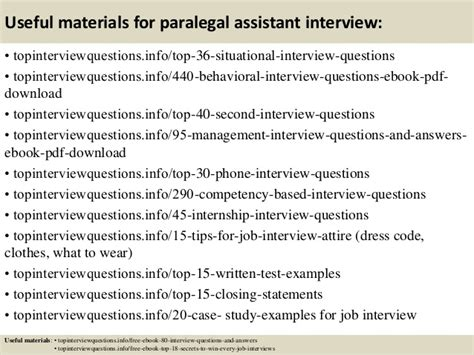 top 10 paralegal assistant questions and answers