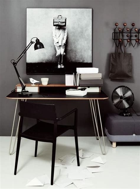 chic home office desk 33 chic masculine home office furniture ideas digsdigs