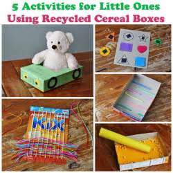5 cereal box projects for toddlers crafts by amanda
