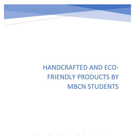 Handcrafted By - handcrafted products by mbcn students pdf docdroid