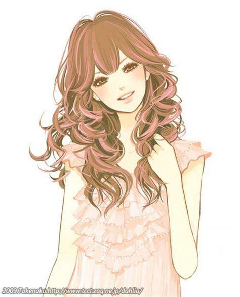 anime curly hair pin anime girl curly brown hair on pinterest