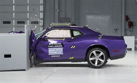 challenger crash ford mustang camaro dodge challenger fall in iihs