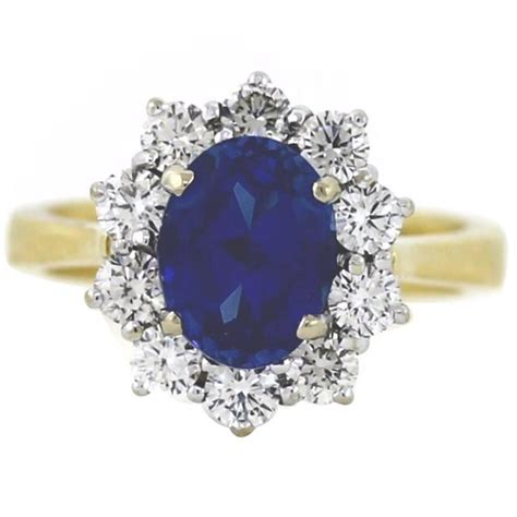 2 50 carat sapphire gold mini princess diana ring