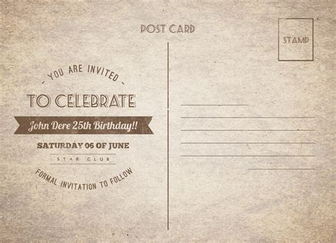 Great Paper Post Cards Template by Vintage Birthday Postcard By Nishamehta Graphicriver