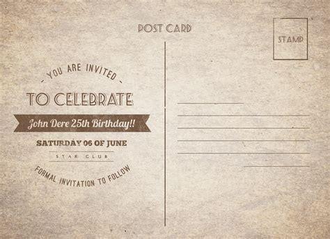 newspaper birthday card template vintage birthday postcard by nishamehta graphicriver