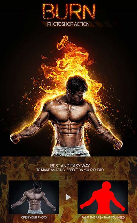 templates bodybuilder for photoshop download realistic burn photoshop action photoshop action free