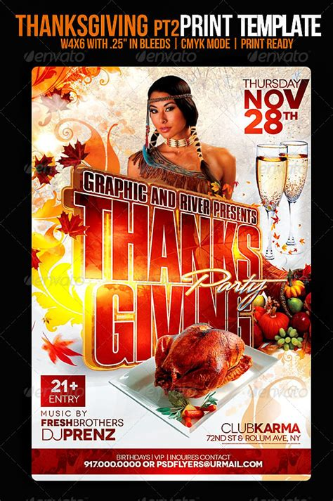 Thanksgiving Flyer By Psdflyers Graphicriver Thanksgiving Flyer Template