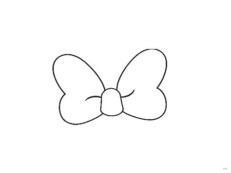 big bow coloring page minnie mouse bow template screenshoot studiootb