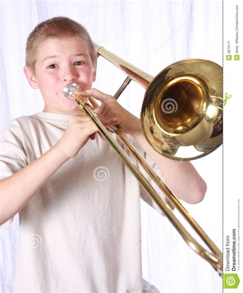 Architecture Lessons trombone player 11 stock image image 6873171