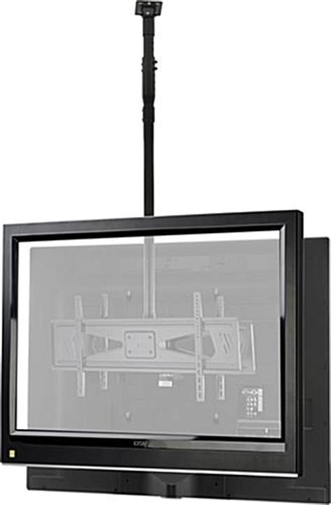 how to hang a tv from ceiling hanging tv mount dual screen bracket with adjustable