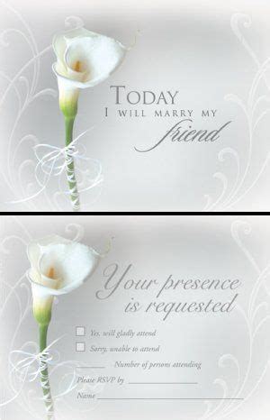 Lily Wedding Invites Blank Wedding Invitations White Calla Lily With Rsvp Cards 1 Calla Wedding Invitation Templates